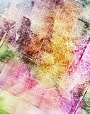 Grunge scratched colorful background Stock Photo