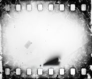 Grunge scratched dirty film strip background with blurred effect. Grunge scratched dirty film strip background with blurred effect Royalty Free Stock Photo