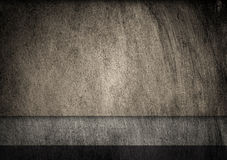 Grunge, scratched gray metal texture. Geometric shapes. Old iron background. Stock Photography