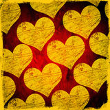 Grunge scratched hearts Royalty Free Stock Photography