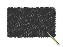 Grunge scribble black pencil v Royalty Free Stock Photo