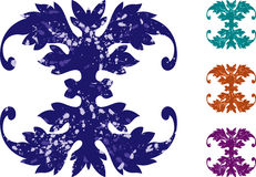 Grunge scrolls. Mixed grunge style scroll shapes Royalty Free Stock Photos