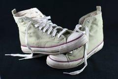 Grunge se divierte los zapatos Foto de archivo libre de regalías