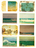 Grunge sea card set Royalty Free Stock Photo