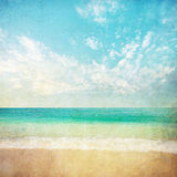 Grunge sea illustration. Grunge beach sea and sky illustration royalty free illustration