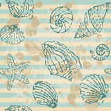 Grunge Sea Seamless pattern Royalty Free Stock Photos