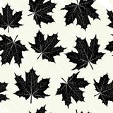 Grunge background with black leaves Royalty Free Stock Image