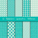 Grunge Seamless Geometric Patterns Set. Stock Photography