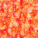 Grunge seamless pattern with decorations Stock Images