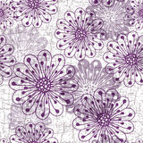 Grunge seamless pattern with flowers Stock Images