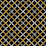 Grunge seamless pattern of gold silver diagonal stripes or lines Royalty Free Stock Photo