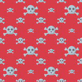 Grunge seamless pattern with skulls vector illustration human bone horror art dead face skeleton. Stock Photos