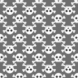 Grunge seamless pattern with skulls vector illustration human bone horror art dead skeleton. Royalty Free Stock Image