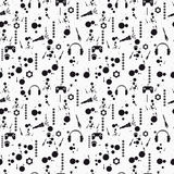 Grunge seamless pattern. Vector. Grunge seamless pattern. White bsckgroung. Vector illustration Royalty Free Stock Images