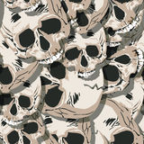 Grunge seamless  skulls pattern Royalty Free Stock Image