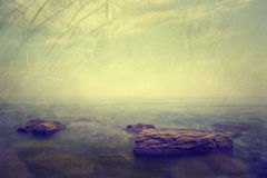 Grunge seascape Royalty Free Stock Photography