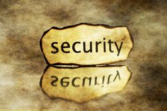 Grunge security tag. Close up of Grunge security tag Stock Image