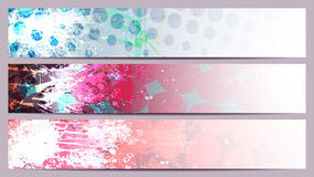 Grunge Separated banners. With fashionable elements Stock Photo