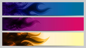 Grunge Separated banners. With fire elements Stock Image