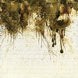 Grunge sepia dripping background Royalty Free Stock Photos