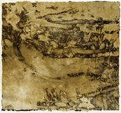 Grunge sepia scratched background Royalty Free Stock Photo