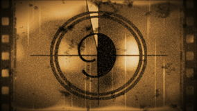 Grunge sepia toned countdown from 10, stock footage stock video footage