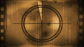 Grunge sepia toned film leader, stock footage stock video
