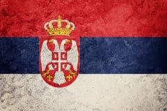 Grunge serba flaga Serbia flaga z grunge teksturą Obrazy Stock