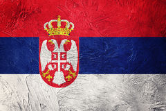 Grunge Serbian flag. Serbia flag with grunge texture. Royalty Free Stock Photos