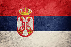 Grunge Serbian flag. Serbia flag with grunge texture. Stock Images