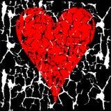 grunge serca valentine Obrazy Royalty Free