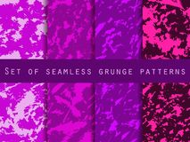 Grunge set of seamless pattern with clots and strokes. Marbled paper watercolor. For wallpaper, bed linen, tiles, fabrics, backgrounds. Vector illustration royalty free illustration