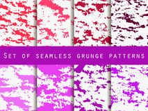 Grunge set of seamless pattern with clots and strokes. Marbled paper watercolor. For wallpaper, bed linen, tiles and fabrics. Vector illustration vector illustration