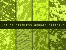 Grunge set of seamless pattern with clots and strokes. Marbled paper watercolor. For wallpaper, bed linen, tiles and fabrics. Vector illustration royalty free illustration