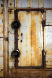 Grunge shabby door Stock Images
