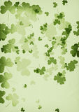 Grunge shamrock background Stock Image