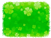 Grunge Shamrock Background Stock Photo