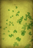 Grunge shamrocks Stock Photo