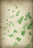 Grunge shamrocks Stock Image