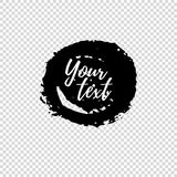Grunge shape. Text frame. Dirty Artistic Design Element. Vector illustration. Stock Photos