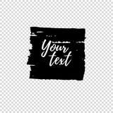 Grunge shape. Text frame. Dirty Artistic Design Element. Vector illustration. Royalty Free Stock Images
