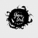 Grunge shape. Text frame. Dirty Artistic Design Element. Vector illustration. Royalty Free Stock Photos