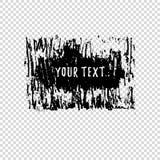 Grunge shape. Text frame. Dirty Artistic Design Element. Vector illustration. Royalty Free Stock Image