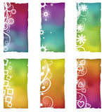 Grunge shapes with gradient mesh backgrounds Royalty Free Stock Photo