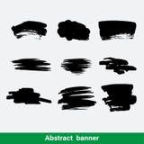 Grunge shapes, set, black isolated on white background, vector illustration. Stock Photography