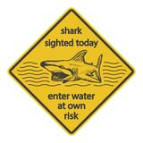 Grunge shark attack warning sign  eps8 Royalty Free Stock Photo