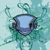 Grunge shield background Stock Image