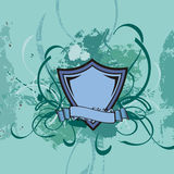 Grunge shield background Royalty Free Stock Images