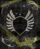 Grunge Shield Background Stock Images
