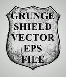GRUNGE SHIELD SKETCH VECTOR isolated element. Print vector or element design with hand drawn Royalty Free Stock Photography